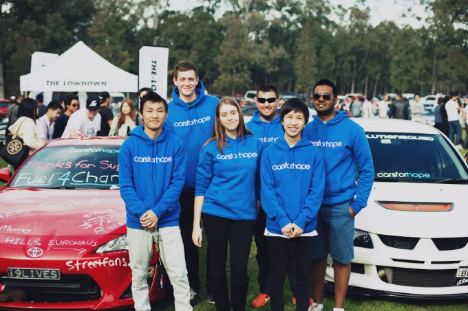 Team Cars For Hope at Fuel 4 Charity