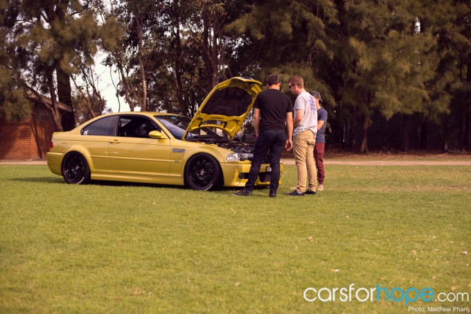 BMW M3 at Fuel 4 Charity