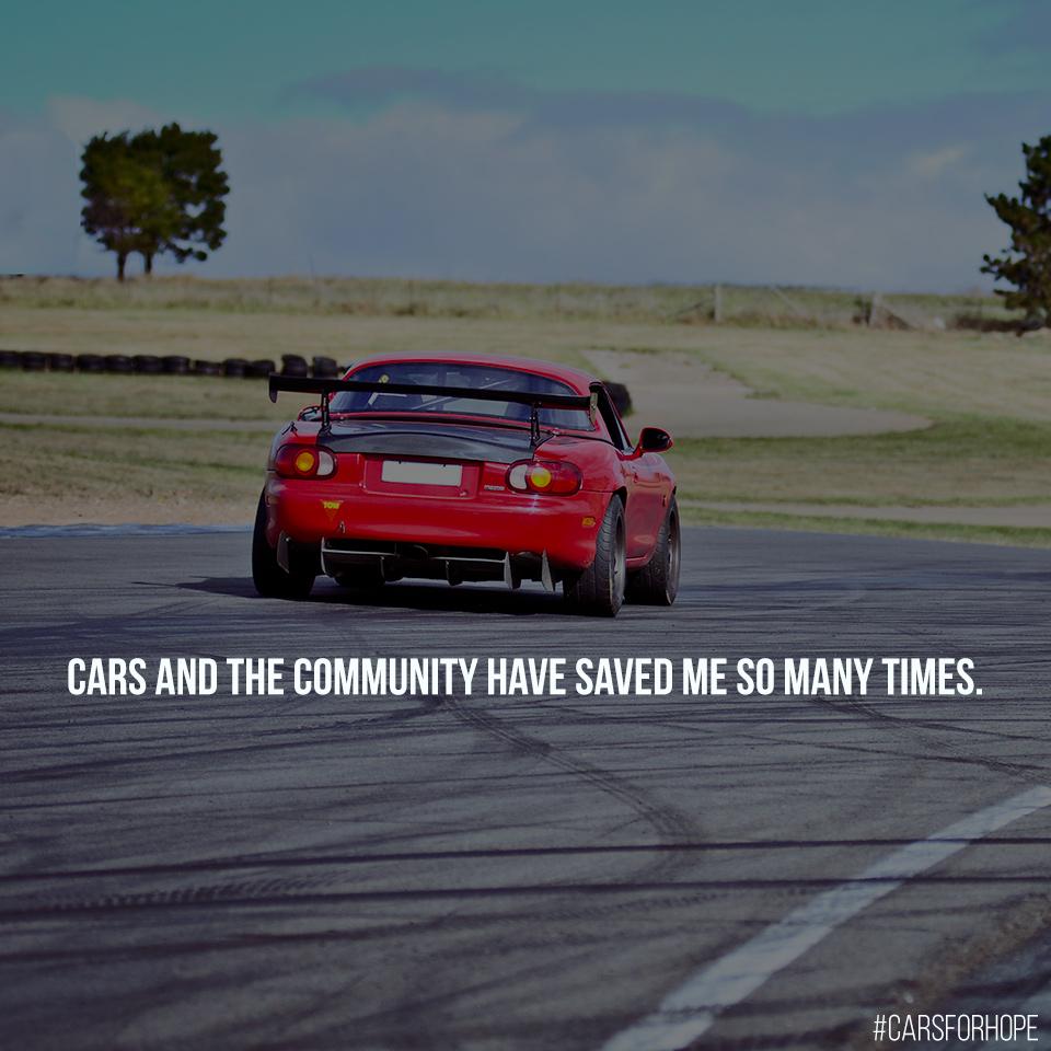 Red Mazda MX5