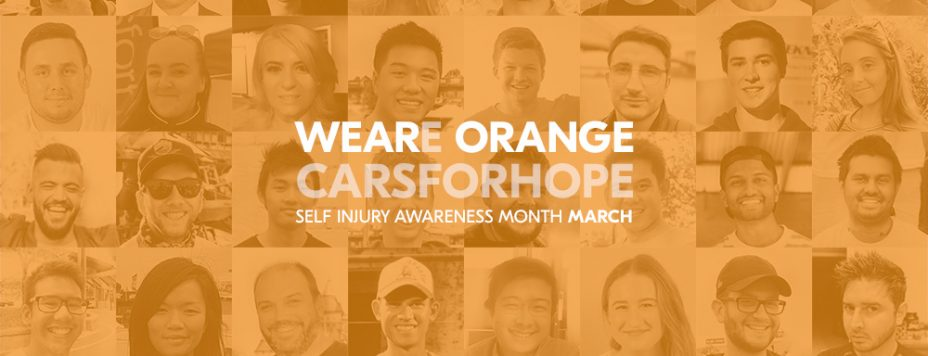 Cars For Hope Wear Orange Self Injury Awareness Month